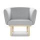 sillón moderno / de tela / de madera