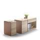 armario de oficina bajo / de madera / de cuero / moderno