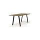 mesa de comedor moderna / de roble / de nogal / rectangular