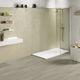 plato de ducha rectangular / de material compuesto / antideslizante