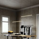 luminaria suspendida / LED / lineal / de aluminio