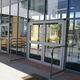 puerta de entrada / abatible / de aluminio / de seguridad