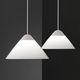 lámpara suspendida / moderna / de aluminio pintado / de acero