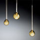 lámpara suspendida / moderna / de vidrio borosilicato / hecha a mano
