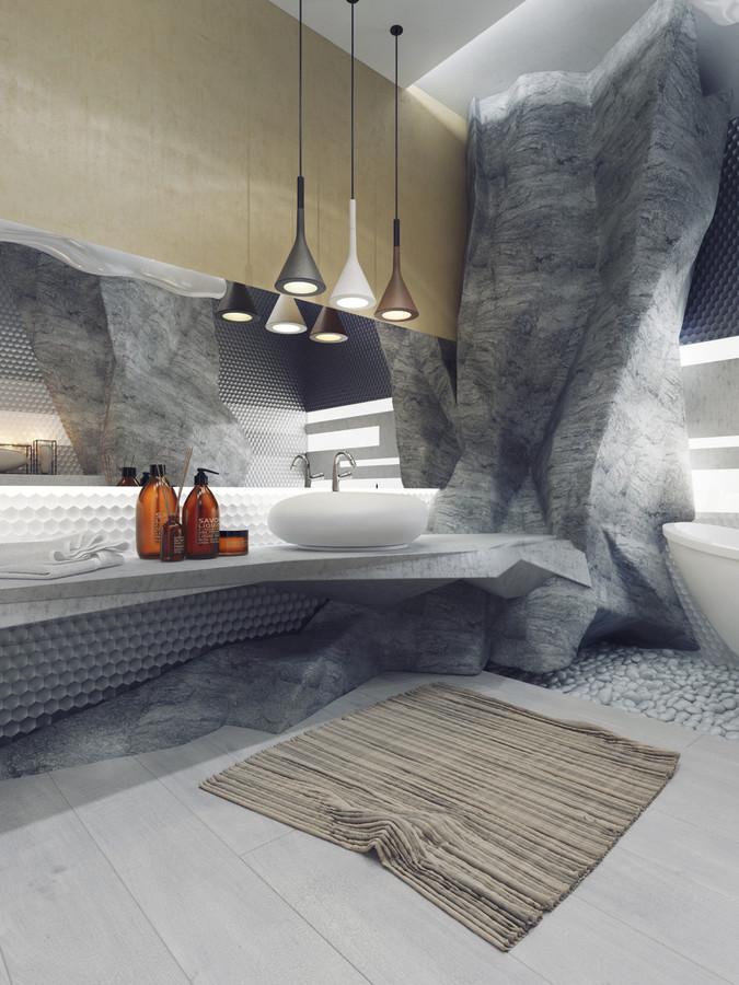 5 cuartos de baño de lujo en alto detalle - Ukraine