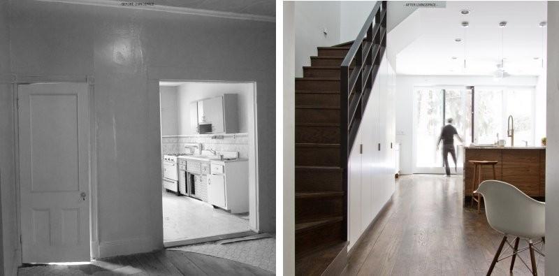 Antes y después? Una transformación de la casa de fila de Brooklyn ...