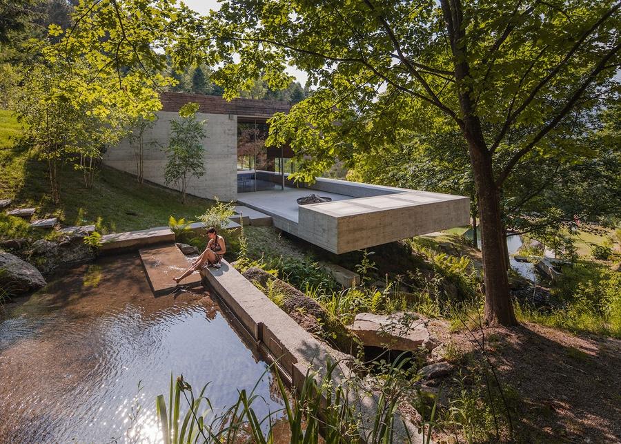 carvalho arajo nestles la madera y la residencia concreta en el valle portugus