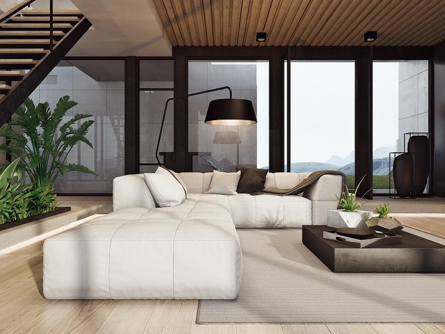 Casa imponente de Rican de la costa con una visión costera ...