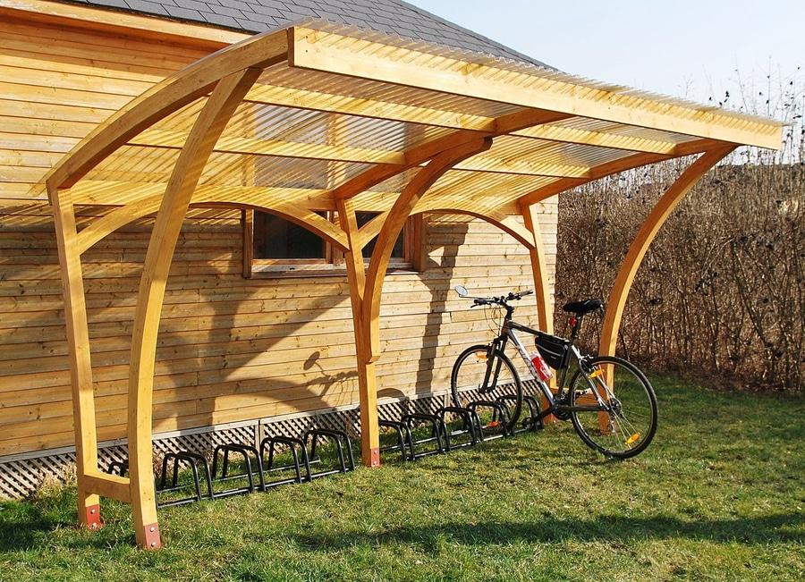 ecocurves refugios de madera para las bicis porque ciclo es sobre la naturaleza