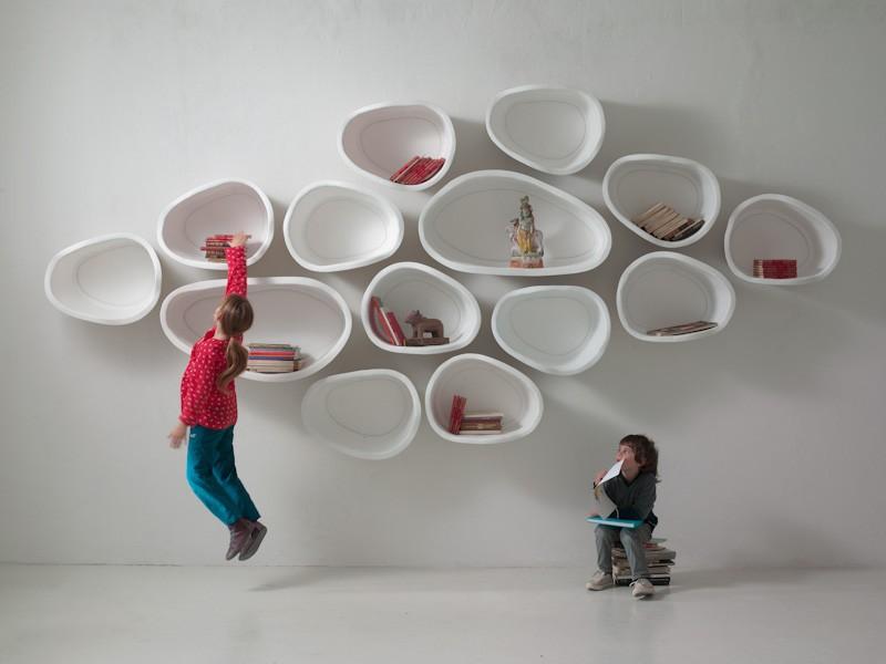 estantes modulares orgnico formados de la pared del diseo del - Diseos Modulares