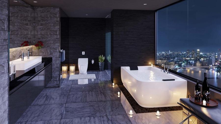 Inspiración ultra de lujo del cuarto de baño - Florida, USA
