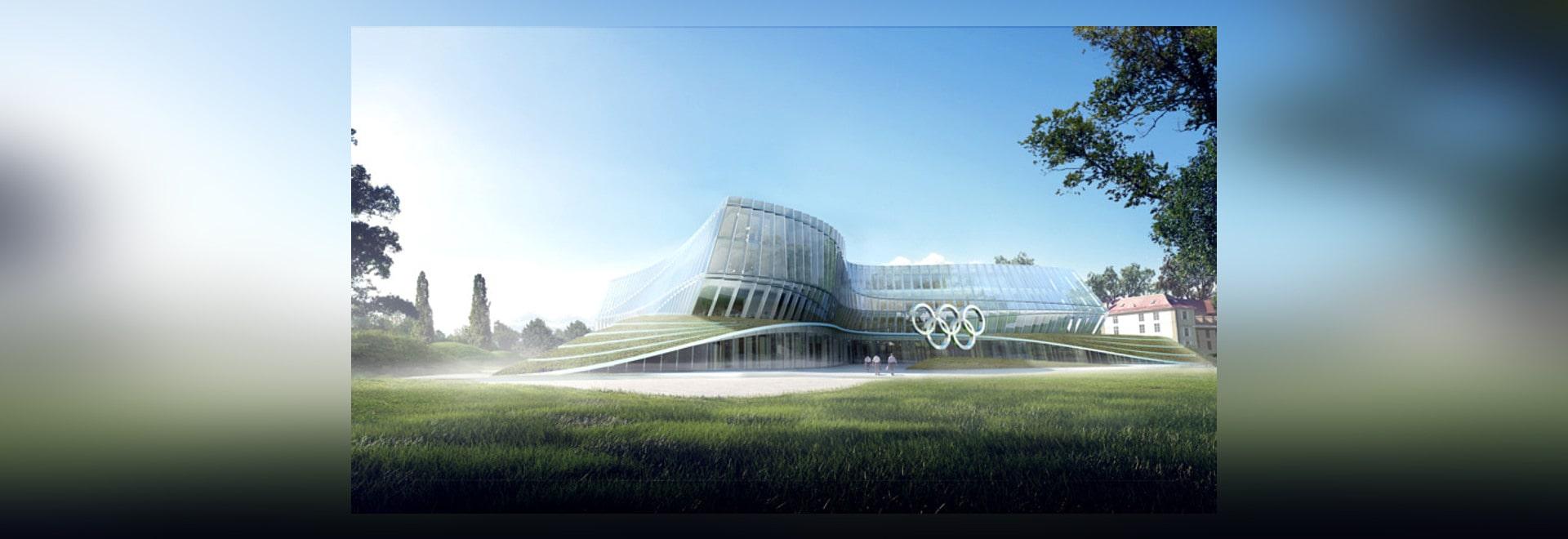 """3XN revela el diseño """"dinámico, undulating"""" para las jefaturas olímpicas suizas"""