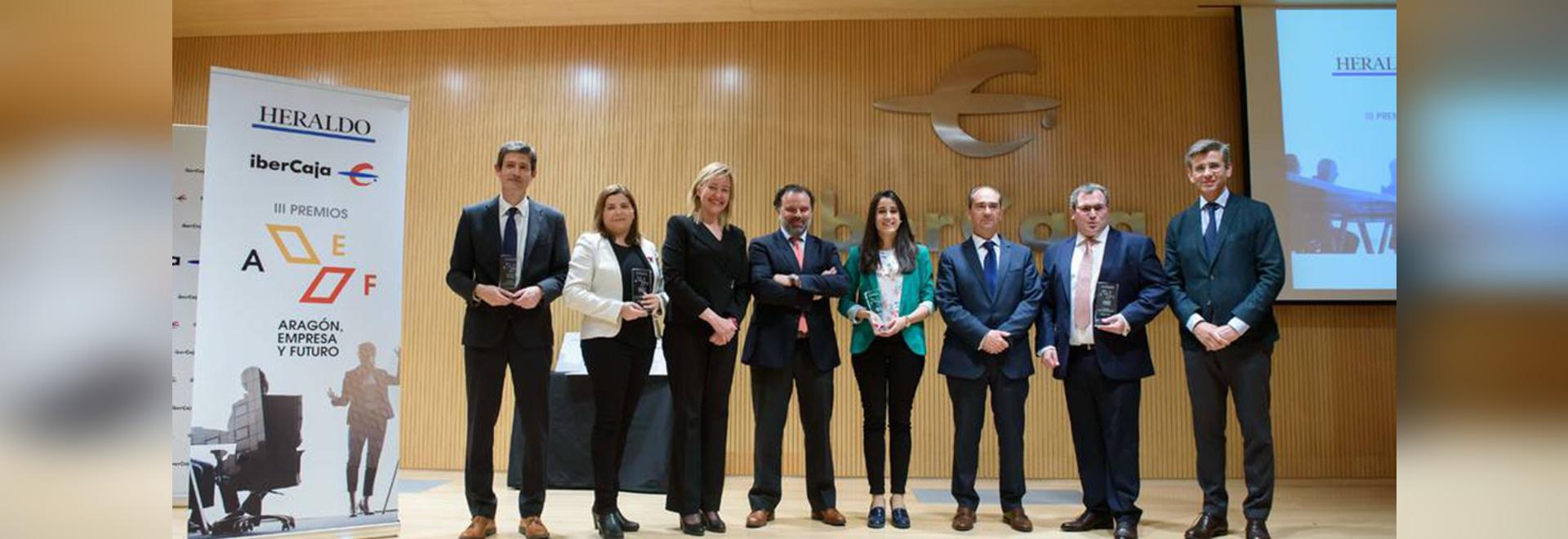 Airfal recibe el Premio Aragón Empresa y Futuro en la categoría de Responsabilidad Social