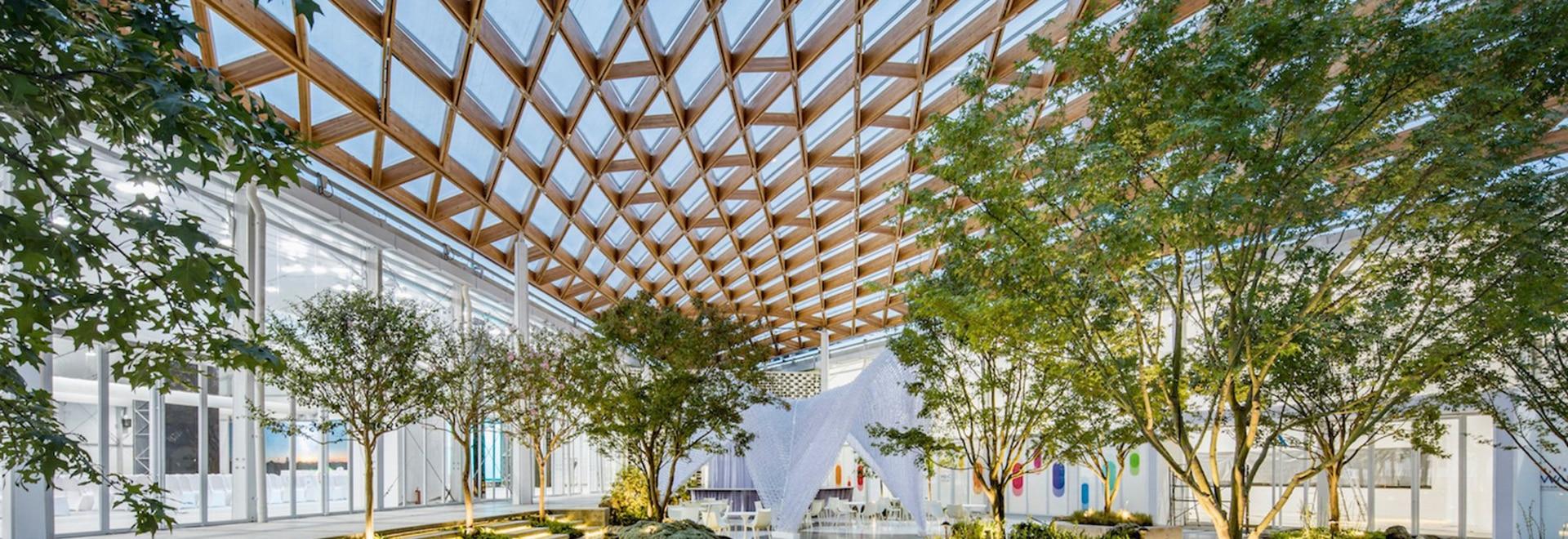la Archi-unión construye el lugar de 8.885 sqm en 100 días usando la construcción prefabricada y 3D-printing