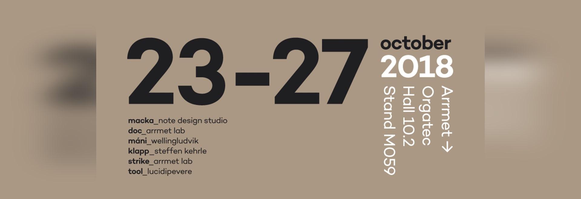 Arrmet trae diseño internacional a Orgatec. El estudio del diseño de la nota, LucidiPevere, WellingLudvik, Steffen Kehrle diseñó las colecciones que serán exhibidas por la marca italiana histórica ...