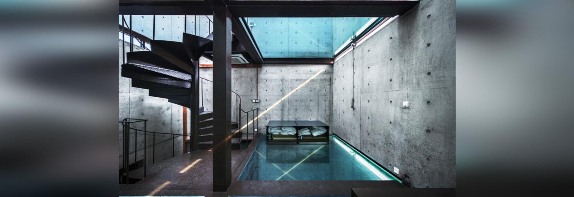 casa de cristal vertical de atelier fcjz