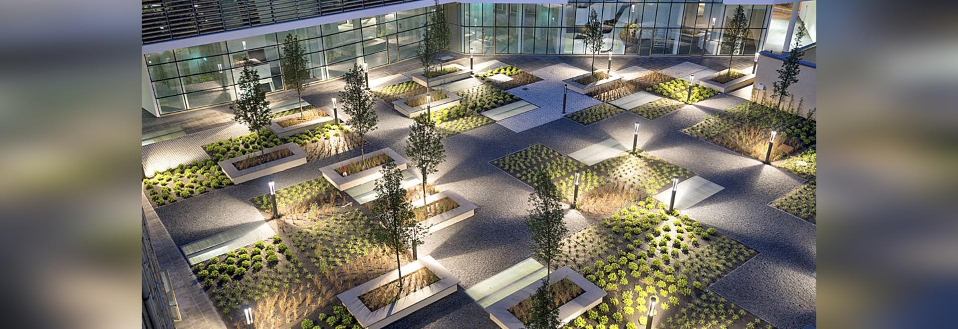 Edificio de oficinas del lugar verde, Milano