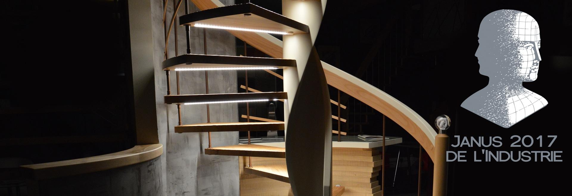 La escalera Senzu por Treppenmeister acaba de ser coronada por el precio Jano de l'Industrie
