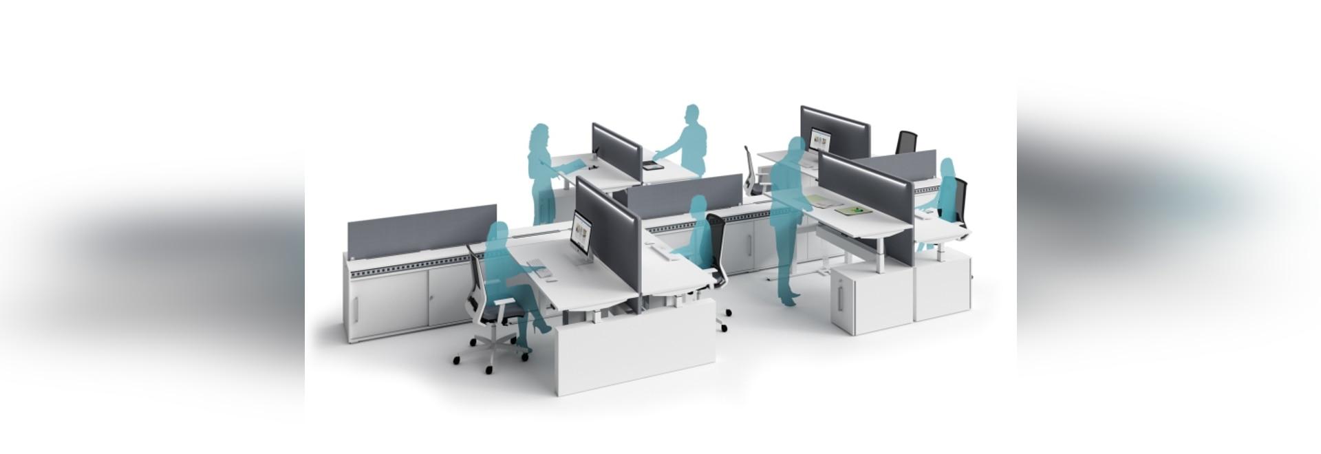 escritorios Altura-ajustables con la estructura eléctrica