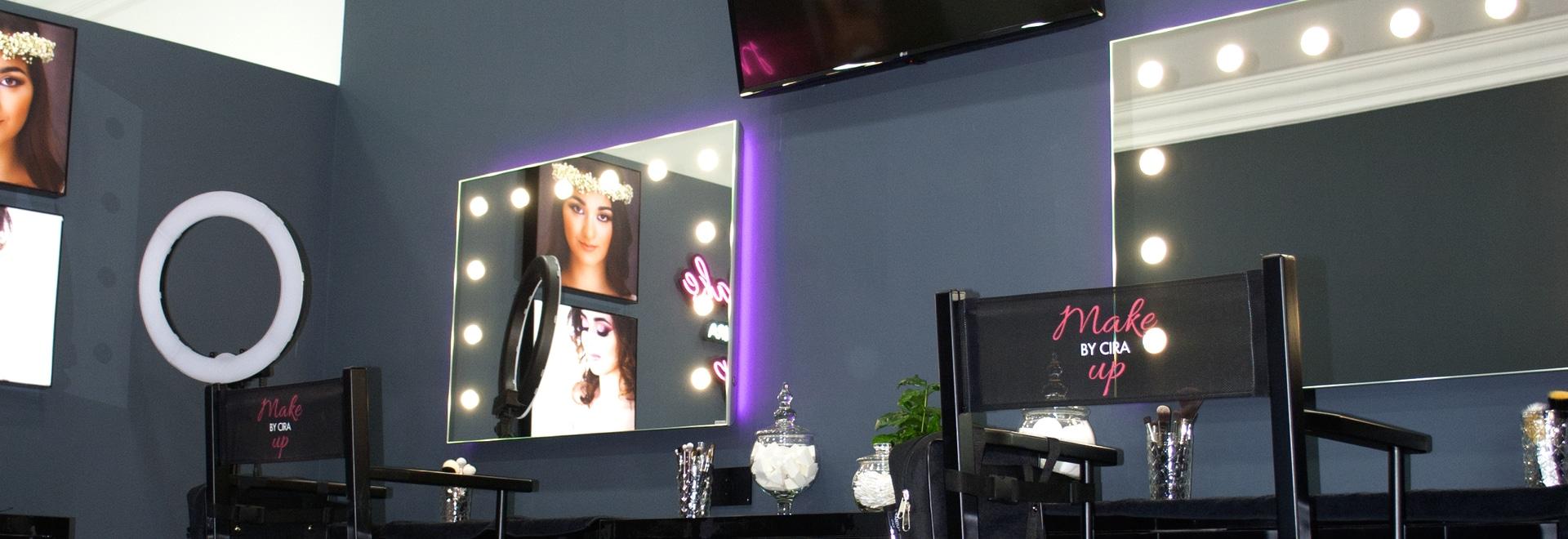 Espejos de maquillaje para salones de belleza