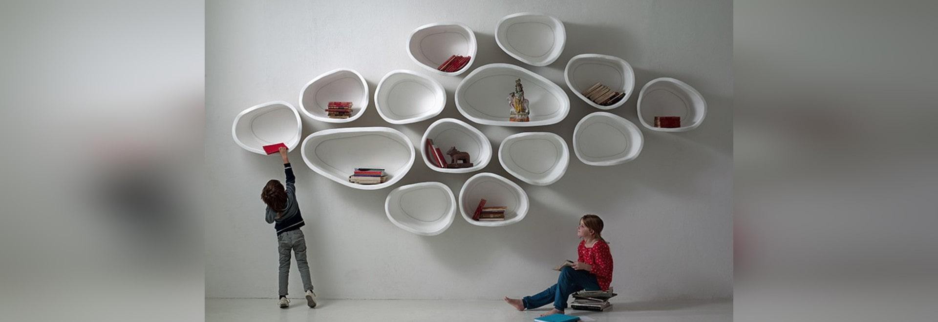 estantes modulares orgnico formados de la pared del diseo del