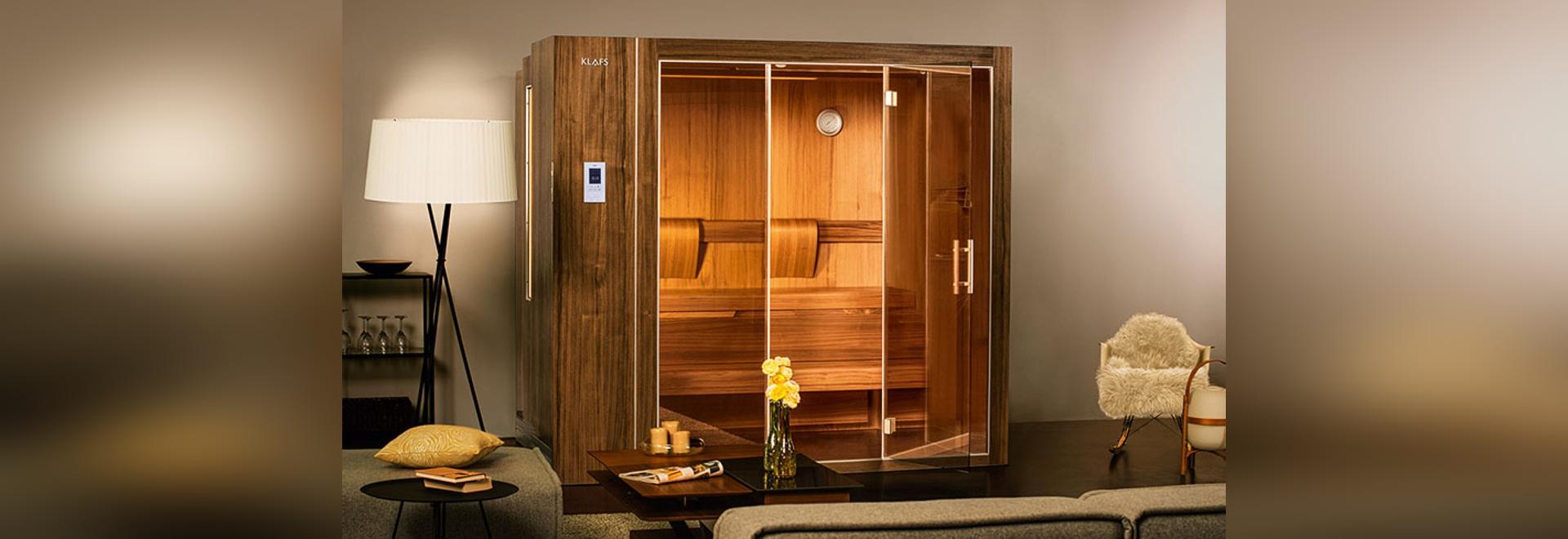 Estas saunas se amplían y contratan así que pueden caber en hogares más pequeños