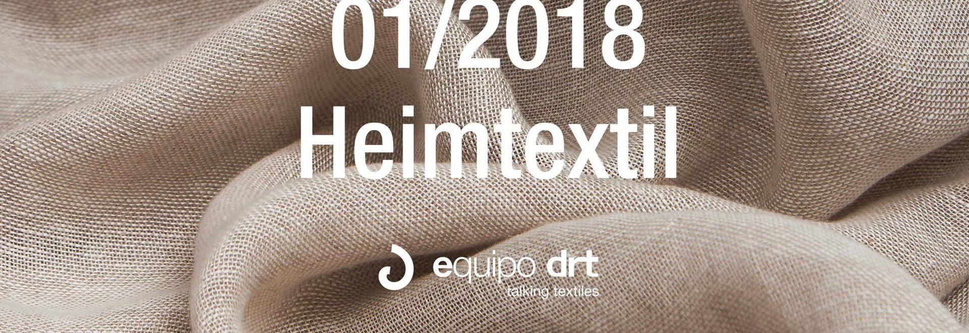 Heimtextil 2018, próxima feria internacional de Equipo DRT