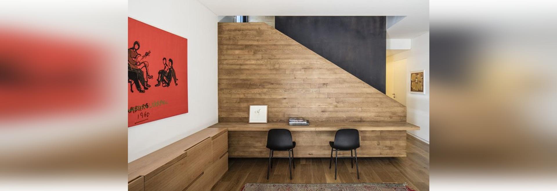 Las ideas del diseño interior – construya un escritorio en un espacio inusitado de la pared