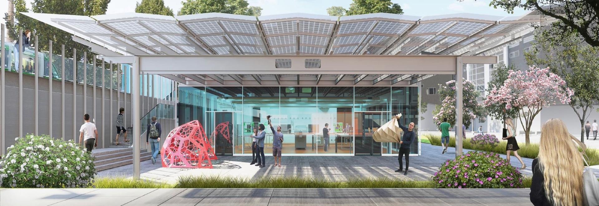 el piano de Renzo planea el nuevo campus de la arquitectura para los di Milano del politecnico