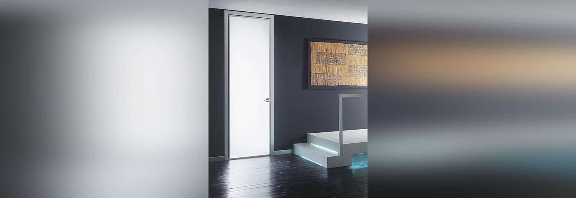 Puerta de aluminio esmaltada del oscilación: LUNA de Massimo Cavana ...