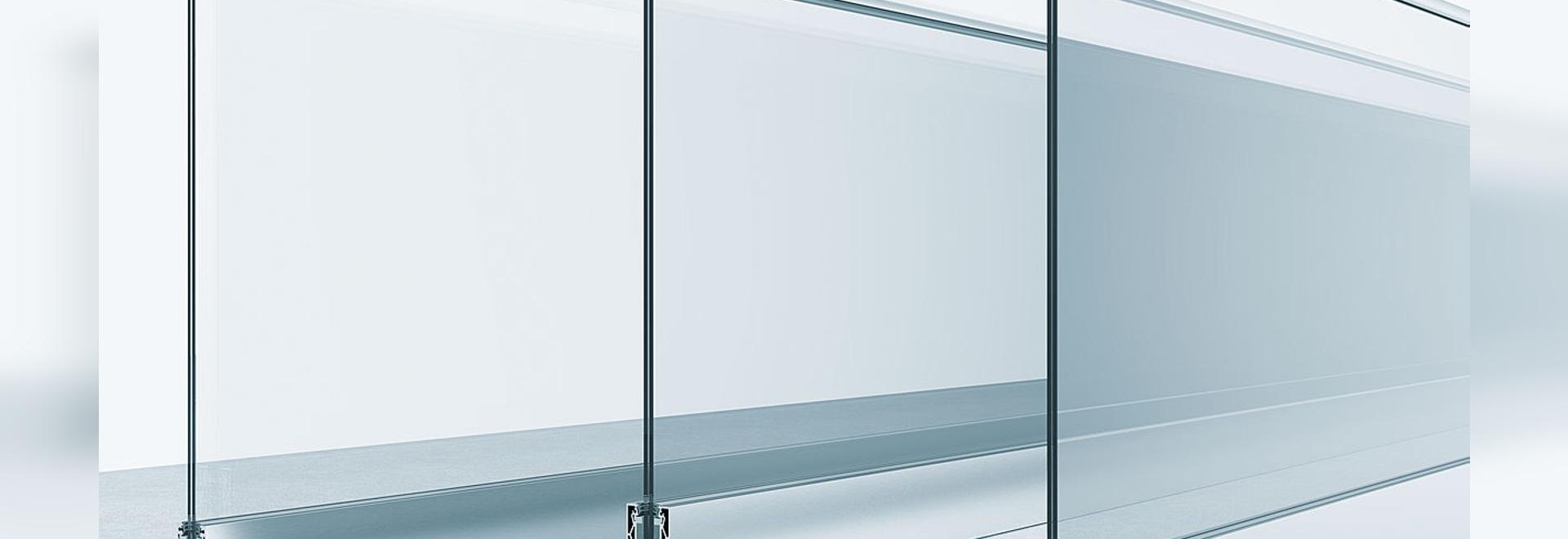 Sistema de verja para las barandillas de cristal cantilevered