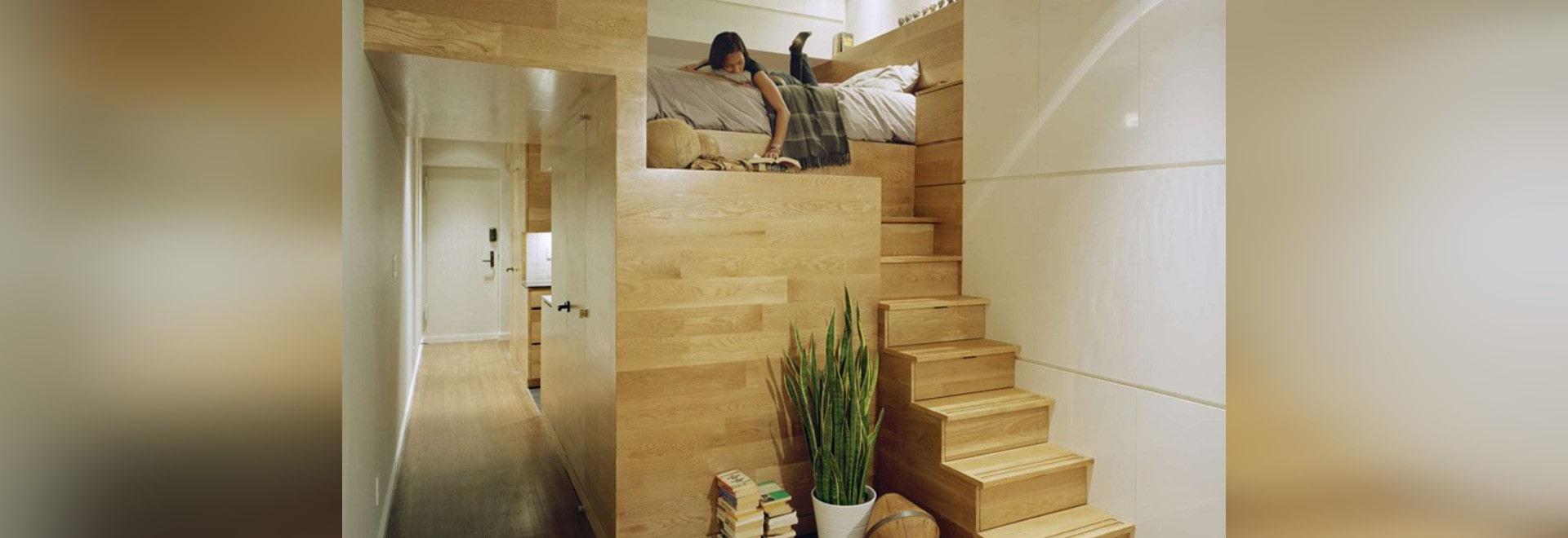 Una solución del diseño para un pequeño apartamento de Nueva York ...
