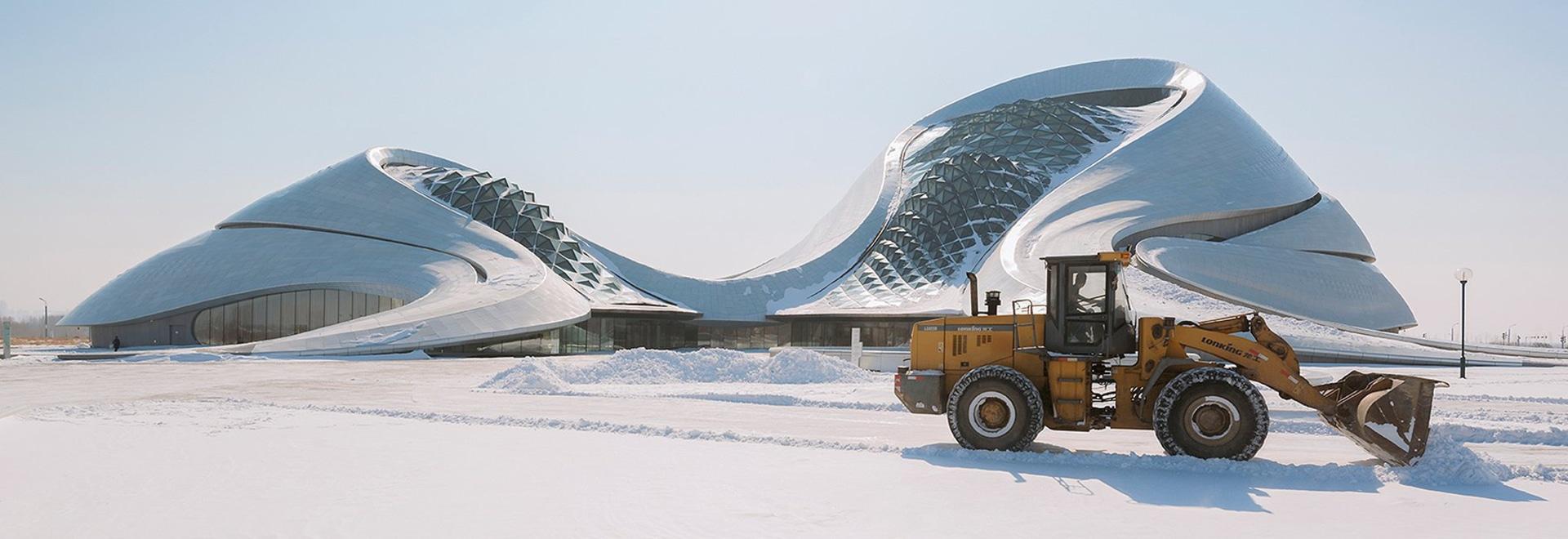 teatro de la ópera de Harbin de los arquitectos ENOJADOS de las fotografías del gallardo de los andrés en la ciudad del hielo de China
