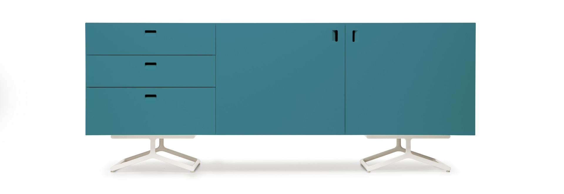 Tipo por satélite de L202,5 H78,5 D47 cm - 2 diseño Barber Osgerby para Quodes