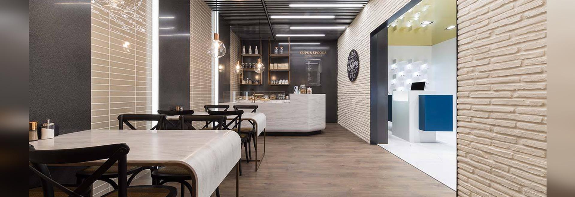 XXV Muestra Internacional de PORCELANOSA Grupo - KRION SHOWROOM / Fast Food – Electrónica
