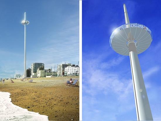 Los arquitectos detrás de la visión icónica futura se elevan, debido abrir este verano, eran también responsables del ojo de Londres