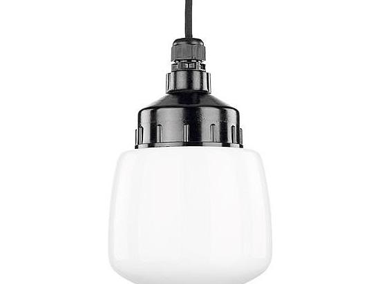 Lámpara pendiente, Duroplast, vidrio del ópalo, cono