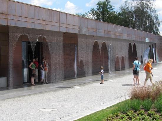 La cortina de agua de Digitaces ama el museo de Hydropolis