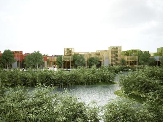 """Penda revela el """"pueblo naturaleza-llenado temporal"""" para la expo hortícola de Pekín"""