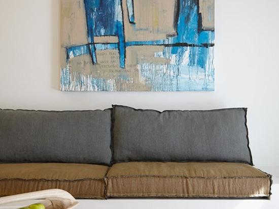 Pintura del formato grande de los bleus de Hommes por el Catman (sitio)