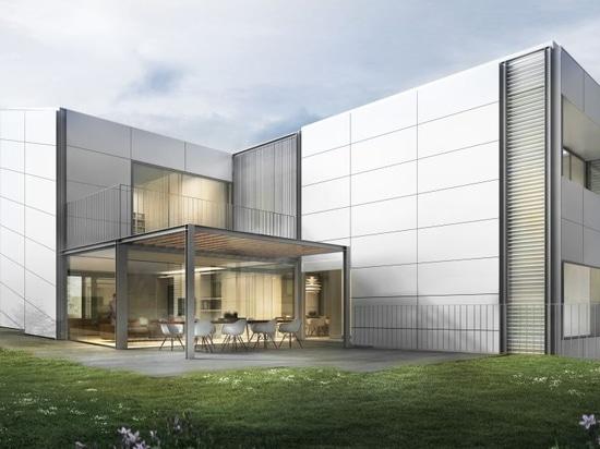 Proyectos de casas separadas con las fachadas ventiladas