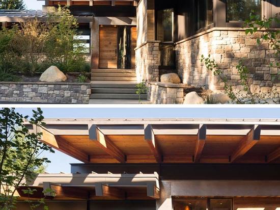 Esta casa de las vacaciones de familia fue diseñada con el entretenimiento en mente