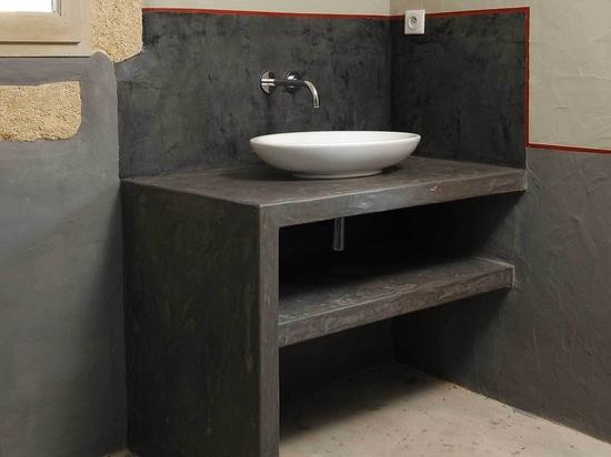 top de los handbasins del Micro-cemento