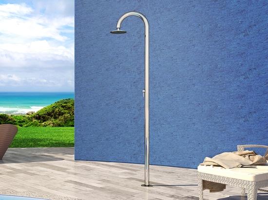Lenguado 60 M Beauty - ducha al aire libre náutica de acero inoxidable de Inoxstyle para la piscina y el jardín