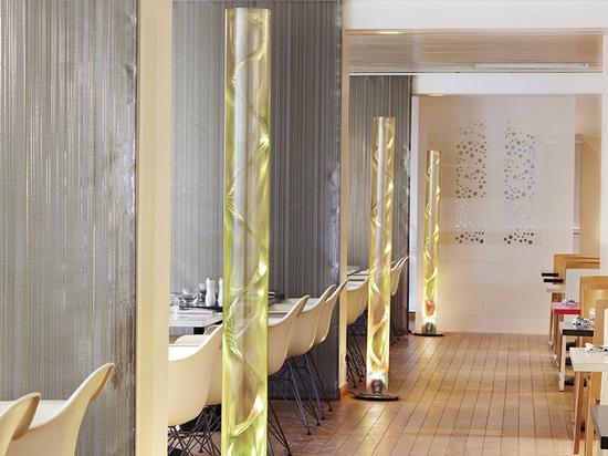 El producto de iluminación de Thierry Vidé en el restaurante de Grand Palais en París