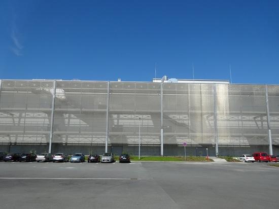 Revestimiento arquitectónico de la fachada de la malla de alambre