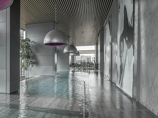 LAMINAM PARA EL HOTEL DEL SUR DE LA PLAYA EN SINGAPUR