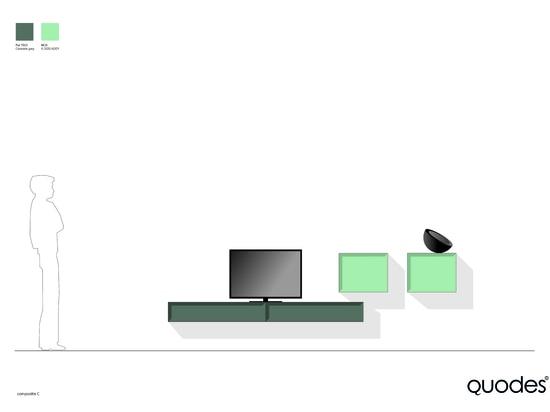 Composición del gabinete del cuello, solución gráfica para la TV