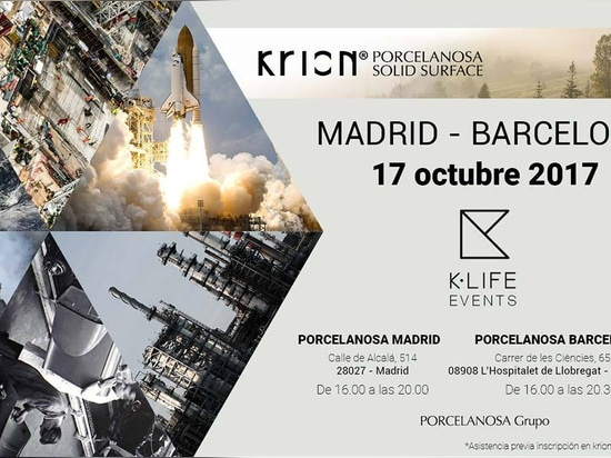 El próximo 17 de Octubre, presentación simultanea de KRION K-LIFE en Madrid y Barcelona