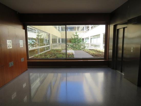 Cubierta ajardinada en la universidad ESCI-UPF